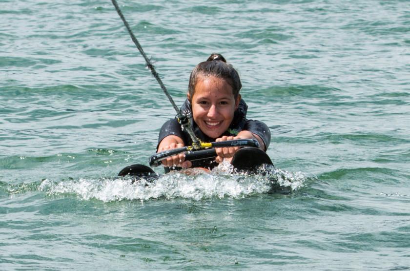 Katharina Leissing, Probetraining, Wasserskifahren, Mondsee, Blog, Salzburg, 20160801© Wildbild/Kathi